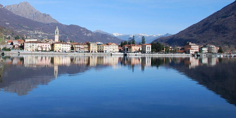 Lago Lugano Como borgo